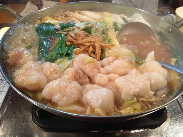 じゅうじゅうぅのモツ鍋