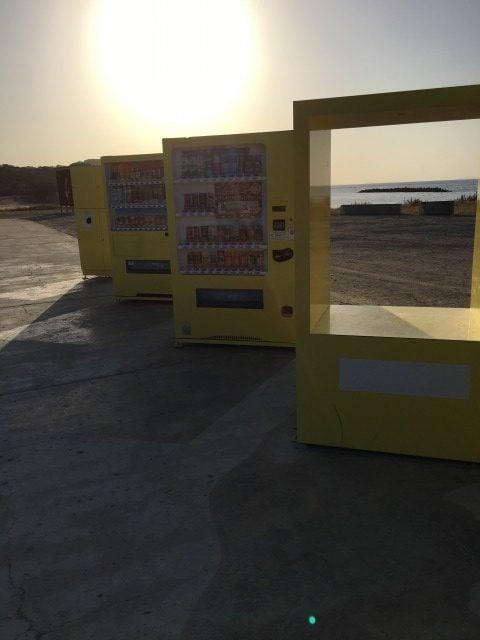 ジハングンの黄色い自販機