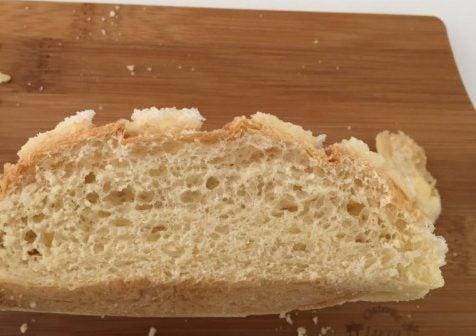 カシェットのメロンパンの断面図