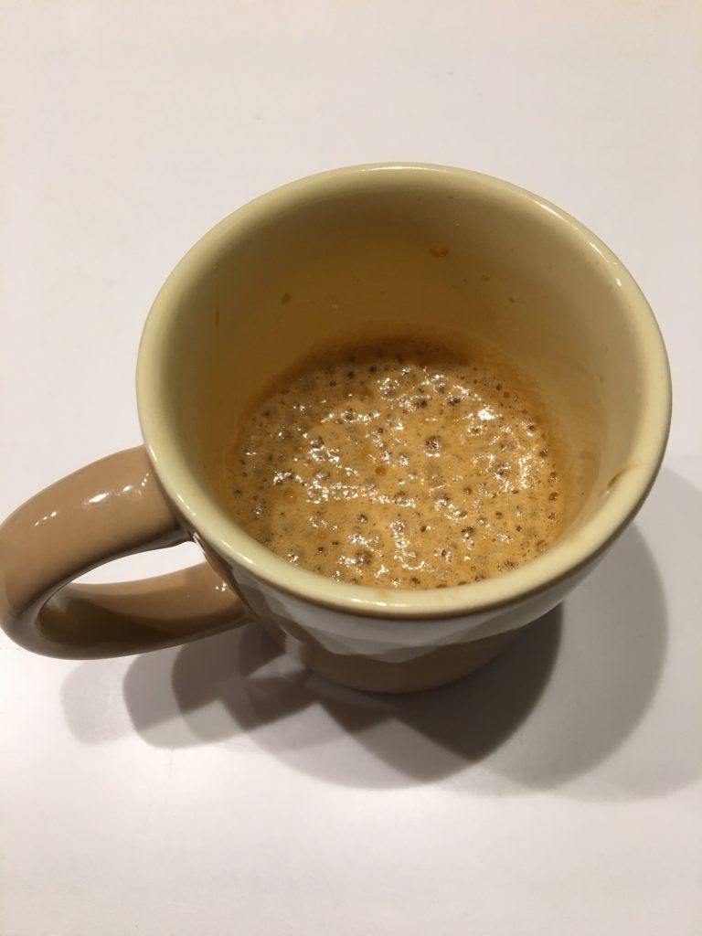 MCTオイルを混ぜたコーヒー