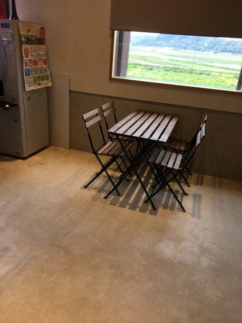 糸島だんご本舗のイートインスペース