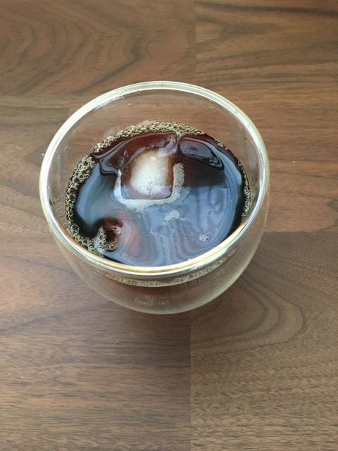 森とコーヒー。の「濃縮コーヒー。」の水割り