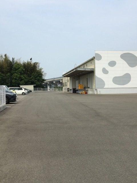 糸島みるくぷらんと糸島工場店の駐車場
