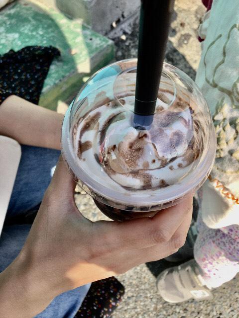 ムンチャ糸島のチョコレートフラッペ