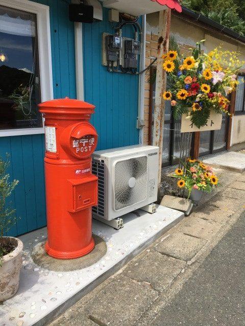ムンチャの赤い郵便ポスト