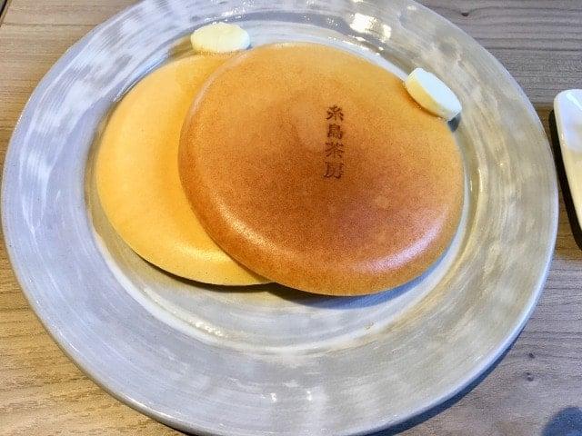 糸島茶房のパンケーキ