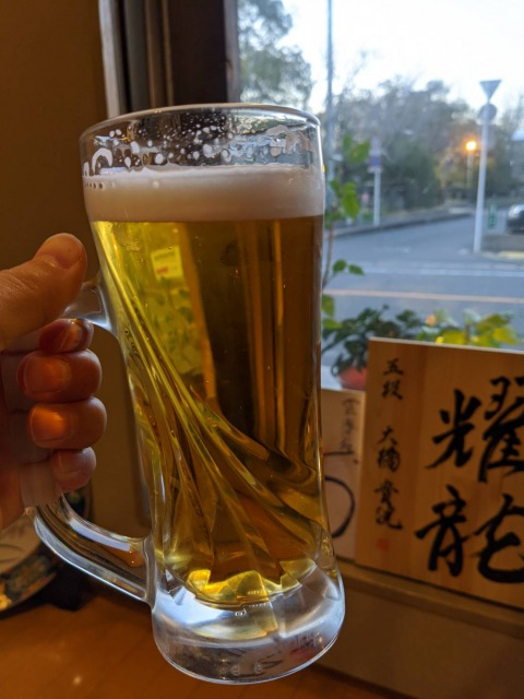 雲海の生ビール