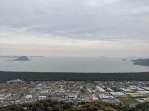 鏡山展望台からの景色