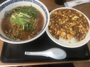 中華食堂劉の麻婆豆腐ご飯と台湾ラーメン