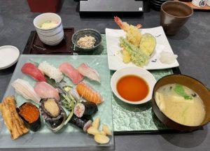 にぎり塚本鮮魚店の極上にぎり・天ぷら膳